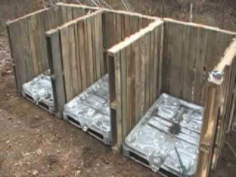 How to make compost bins using old pallets